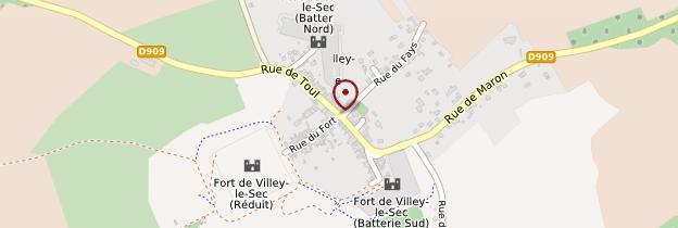 Carte Villey-le-Sec - Lorraine