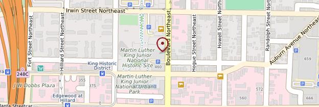 Carte Martin Luther King Jr. National Historic Site - États-Unis