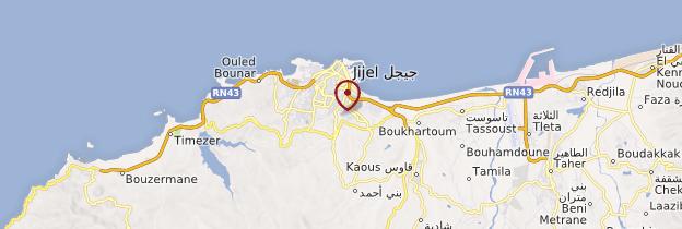 Carte Jijel - Algérie