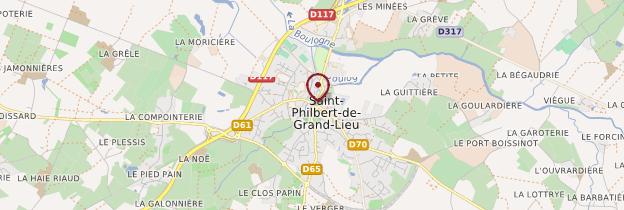 Carte Saint-Philbert-de-Grand-Lieu - Pays de la Loire