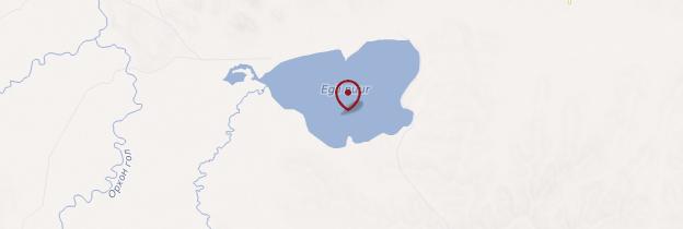 Carte Lac Ugii - Mongolie