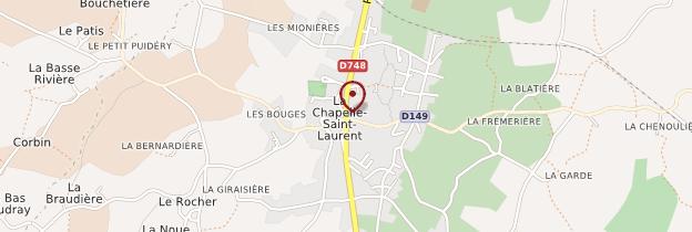 Carte La Chapelle-Saint-Laurent - Poitou, Charentes