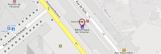 Carte Bibliothèque de l'Arsenal - Paris