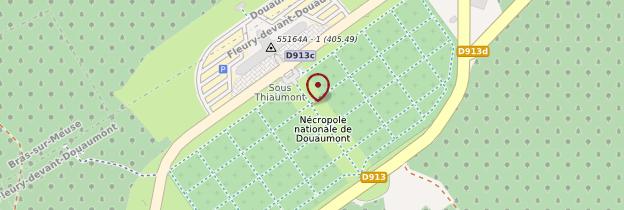 Carte Ossuaire de Douaumont - Lorraine