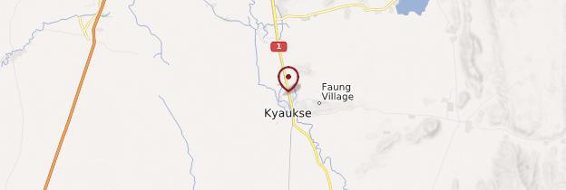 Carte Kyaukse - Birmanie