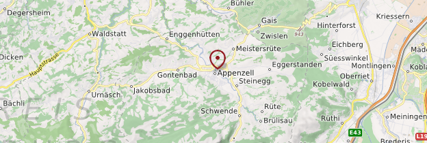 Carte Appenzell - Suisse