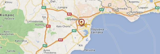 Carte Larnaca et ses environs - Chypre