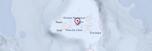 Carte Chuuk  - Micronésie