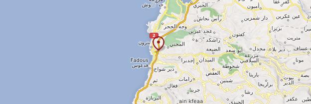 Carte Batroun - Liban