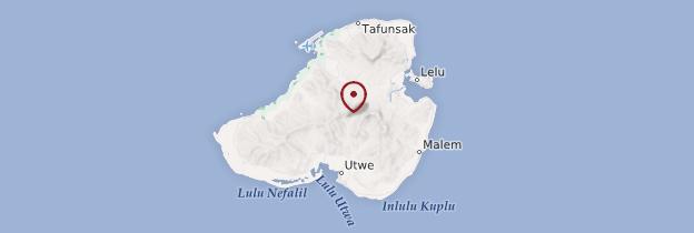 Carte Kosrae - Micronésie
