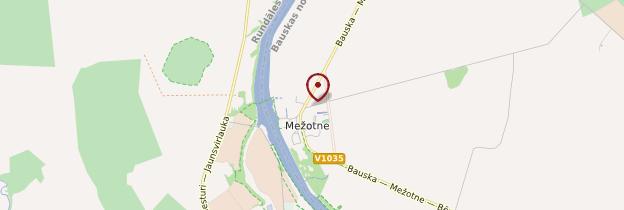 Carte Mezotne - Lettonie