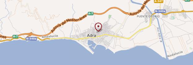 Carte Adra - Andalousie