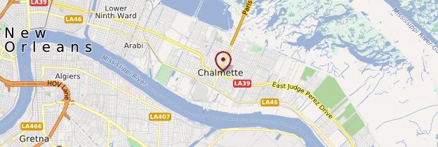 Carte Chalmette - Louisiane