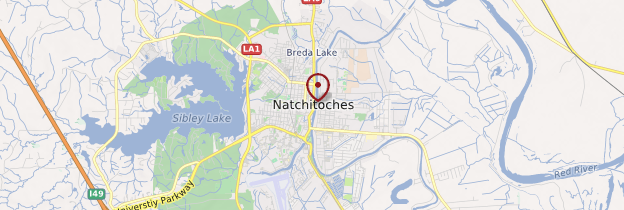 Carte Natchitoches - Louisiane