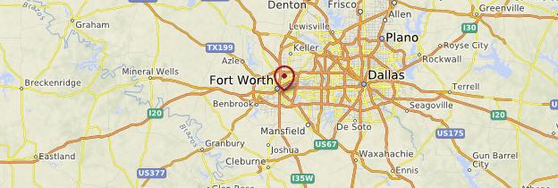 Carte Fort Worth - États-Unis