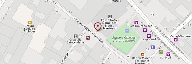 Carte Église Notre-Dame-des-Blancs-Manteaux - Paris