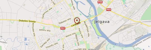 Carte Jelgava - Lettonie