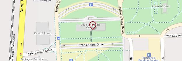 Carte Capitol - Louisiane