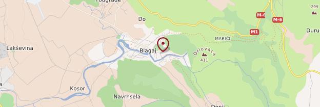 Carte Blagaj - Bosnie-Herzégovine