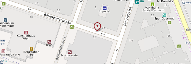 Carte Musikverein - Vienne