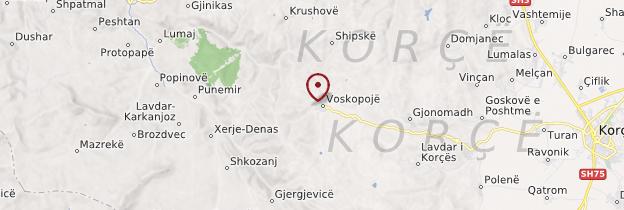 Carte Voskopojë - Albanie