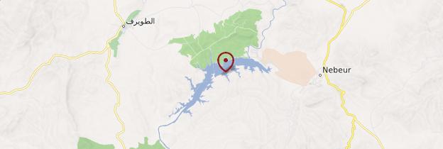 Carte Lac Mellegue - Tunisie