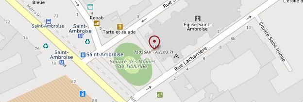 Carte Église Saint-Ambroise - Paris