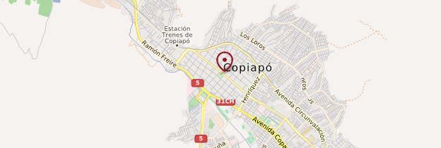 Carte Copiapó - Chili