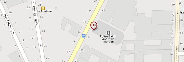 Carte Église Saint-André-de-l'Europe - Paris