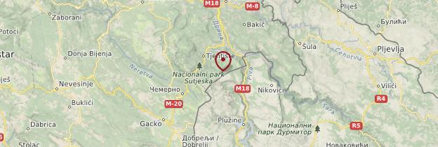 Carte Parc national de Sutjeska - Bosnie-Herzégovine