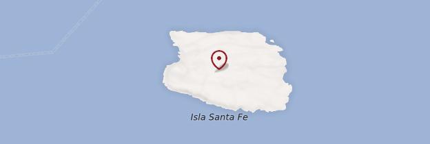 Carte Isla Santa Fé - Îles Galápagos