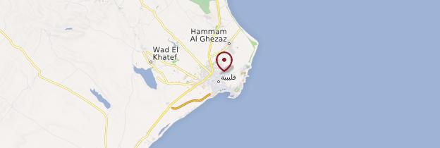 Carte Kelibia - Tunisie