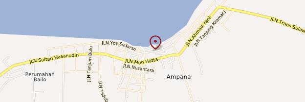 Carte Ampana - Indonésie
