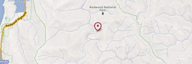 Carte Redwood National Park - Californie