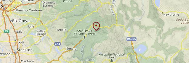 Carte Californie - Parcs nationaux de l'Ouest américain