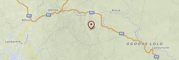 Carte Parc national de la Lopé - Gabon