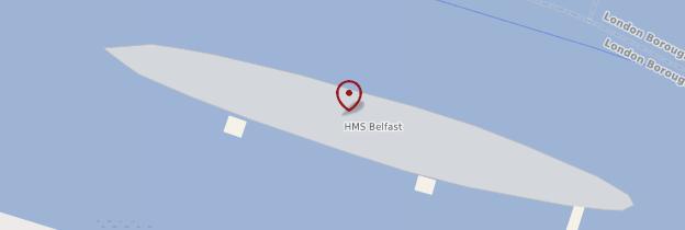 Carte HMS Belfast - Londres
