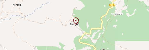 Carte Draguć - Croatie