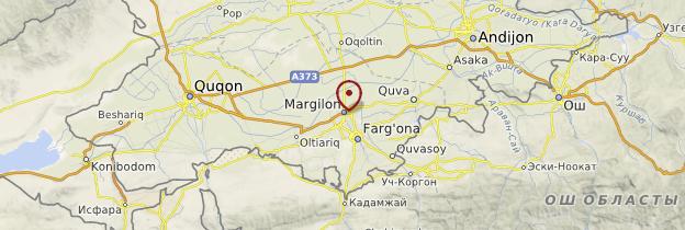 Carte Marguilan - Ouzbékistan