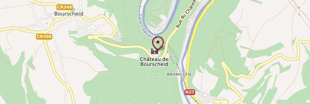 Carte Château de Bourscheid - Luxembourg