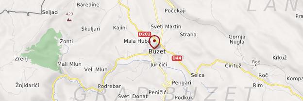 Carte Buzet - Croatie