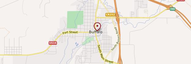 Carte Buffalo - Parcs nationaux de l'Ouest américain
