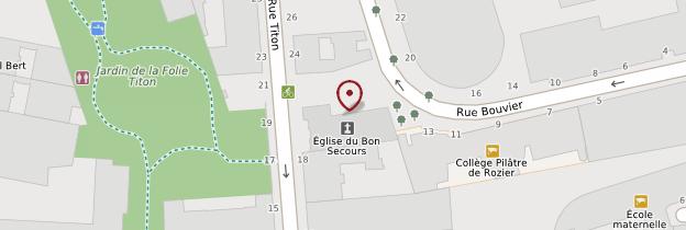 Carte Eglise protestante de Bon Secours - Paris