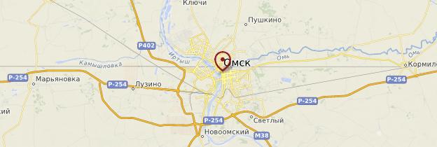 Carte Omsk - Russie