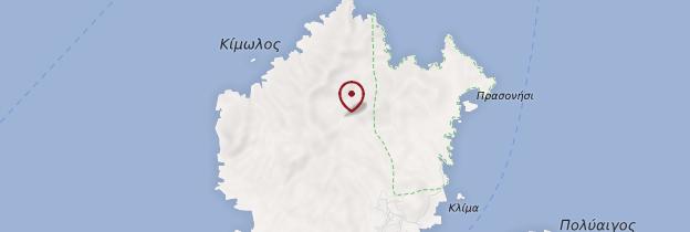 Carte Île de Kimolos - Îles grecques