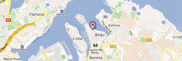 Carte Les Trois Cités (Cottonera) - Malte