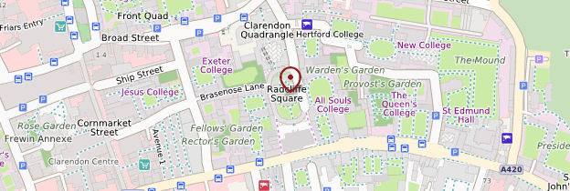 Carte Radcliffe Camera - Angleterre