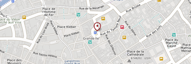 Carte Centre-ville - Strasbourg