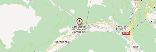 Carte Campitello di Fassa - Italie
