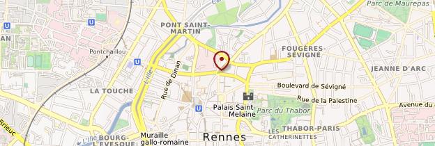 Carte Centre-ville - Rennes